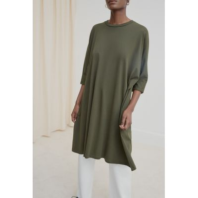 KOWTOW - OVERSIZED BOXY DRESS - GRÆNN
