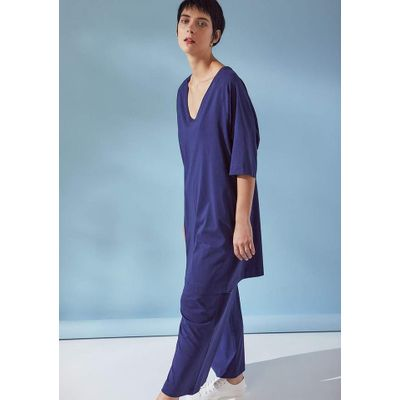 KOWTOW - OVERSIZED T-SHIRT DRESS - BLÁR