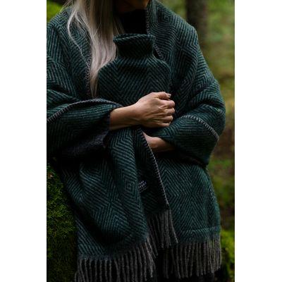 LAPUAN KANKURIT - MARIA - Pocket Shawl - Grey/Green