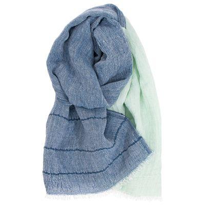 LAPUAN KANKURIT - TSAVO linen scarf - Blueberry Mint
