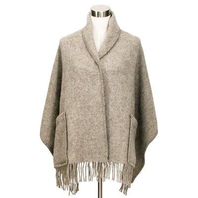 LAPUAN KANKURIT - UNI pocket shawl - Melange Beige