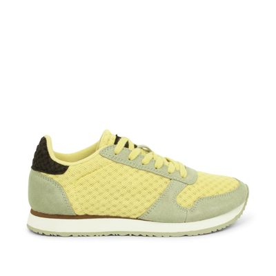 Woden Sneakers Ydun Suede Mesh II Desert Sage/Lemongrass