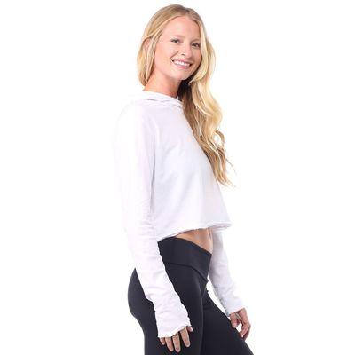 LVR - Cropped hoodie - white