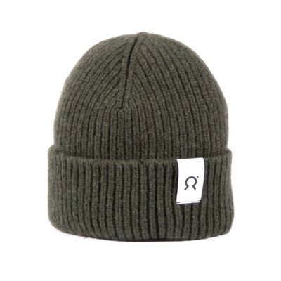 RIFÓ - Marcello regenerated cashmere hat - Moss Green