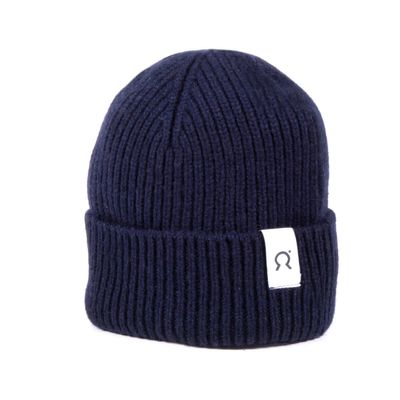 RIFÓ - Marcello regenerated cashmere hat - Blackberry Blue