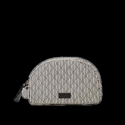O MY BAG -  Moon Makeup Bag - Cotton Black Classic Leather