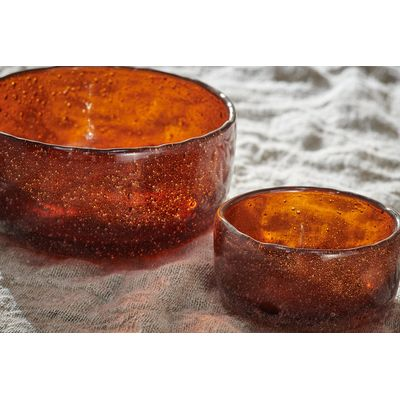 Nkuku - Riya Glass Bowl - Medium - Rust