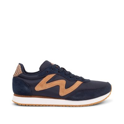 Woden Olivia Navy Leather Sneakers