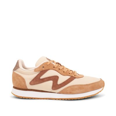 Woden Olivia Light Sand Leather Sneakers
