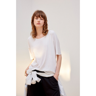 KOWTOW - BUILDING BLOCK -  OVERSIZED TOP - HVÍTUR