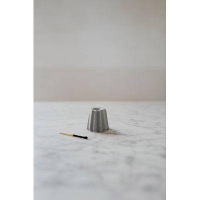 OVO THINGS - Porcelain Canele Candle Holder - Matte Bluish Grey