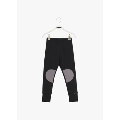 PAPU KIDS - PATCH LEGGINGS - BLACK - STONE GREY