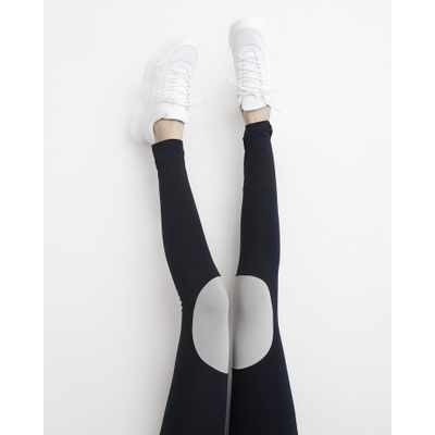 PAPU - PATCH LEGGINGS - BLACK/STONE GREY