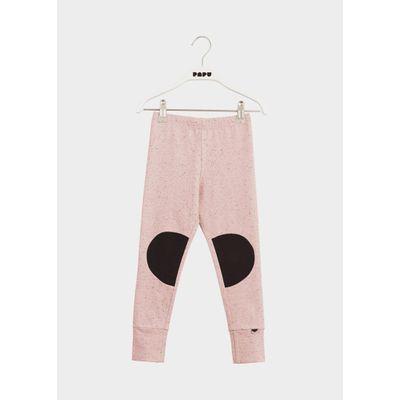 PAPU KIDS - PATCH LEGGINGS - Melange Pink/Black