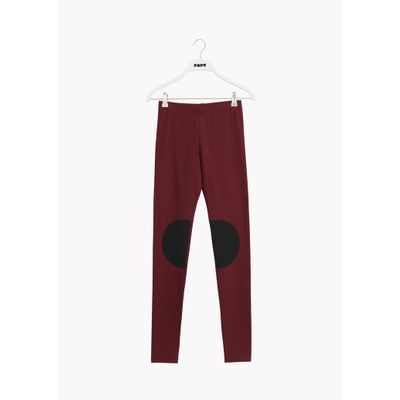 PAPU - PATCH LEGGINGS - Deep Red/Black