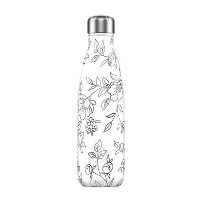 Chilly's flaska Lineart Flowers 500 ml
