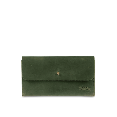 O MY BAG -  Pixie's Pouch - Green Hunter Leather