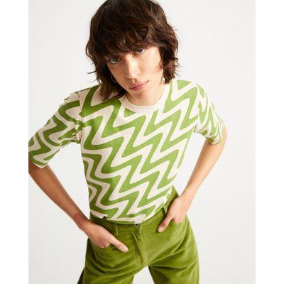 THINKING MU - PSYCHO GREEN VIRGINIA T-SHIRT