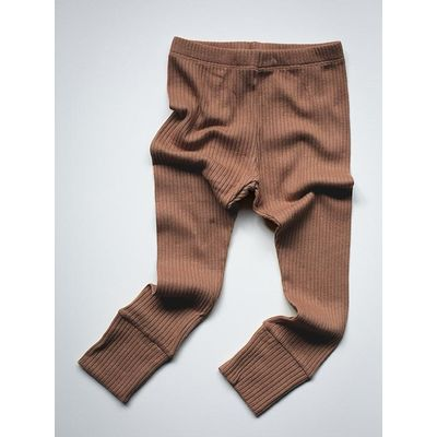 SIMPLE FOLK - The Ribbed Legging - Cinnamon