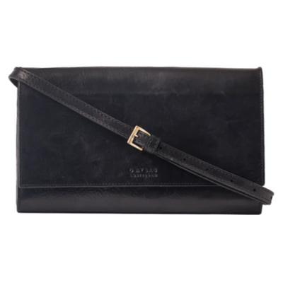 O MY BAG - Kirsty Clutch - Black - Stromboli Leather