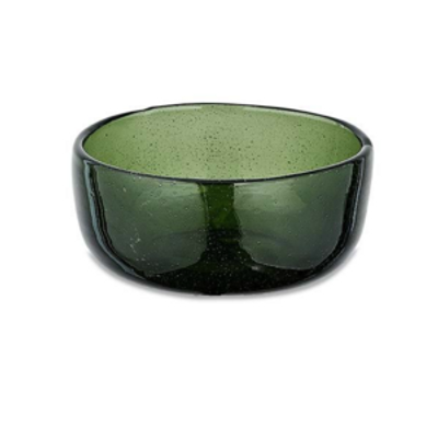 Nkuku - Riya Glass Bowl - Medium - Dark Emerald