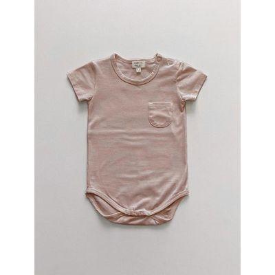 SIMPLE FOLK - The Short Sleeve Pocket Onesie - Antique Rose