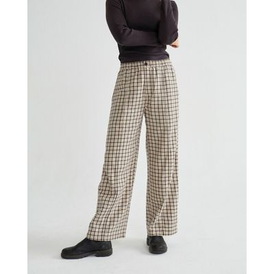 THINKING MU -  SMALL CHECKS - MAIA PANTS