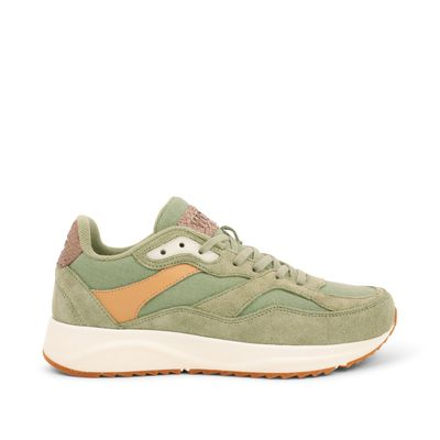 Woden Sophie Dusty Olive Leather Sneakers
