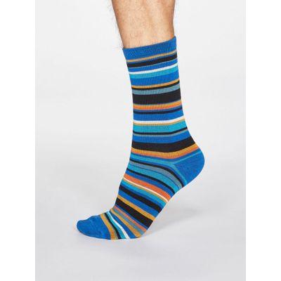 Thought Sokkar Braxton Stripe Bright Blue