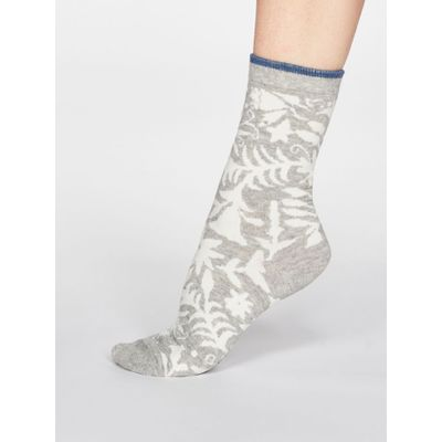 Thought Sokkar Otomi Floral Grey Marle
