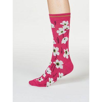 Thought Sokkar Peggie Floral Magenta Pink