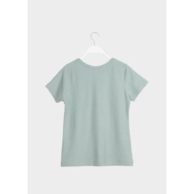 PAPU T-SHIRT -Muted Green - Diagonal Rib - Women