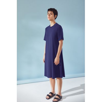 KOWTOW - TRIANGLE T-SHIRT DRESS - BLÁR