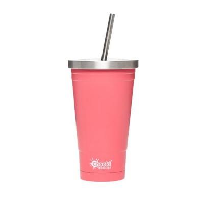 Cheeki smoothie glas einangrað Dusty Pink 500 ml