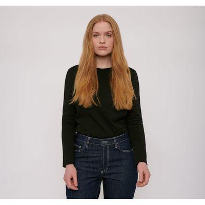 ORGANIC BASICS - Organic Cotton Long-Sleeve Tee - Black