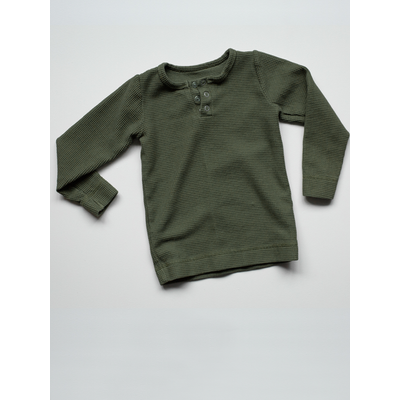 SIMPLE FOLK - The Waffle Top - Olive