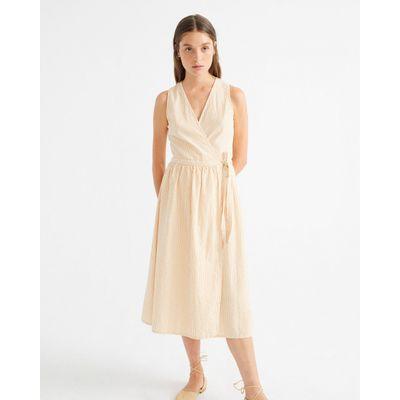 THINKING MU - SEERSUCKER AMAPOLA - DRESS