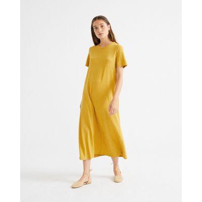 THINKING MU - MUSTARD HEMP OUEME - DRESS