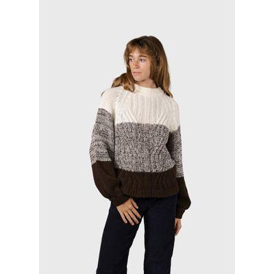 KLITMØLLER -  Viva knit - Cream/earth