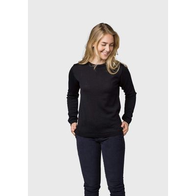 KLITMØLLER -   Womens basic merino knit - Black