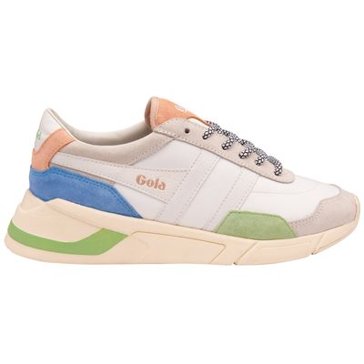 Gola Women Eclipse Trident White/Patina Green/Vista Blue