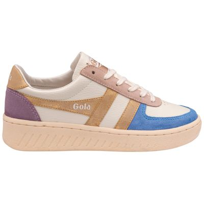 Gola Women Grandslam Quadrant Off White/Vista Blue/Gold/Lily