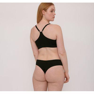 ORGANIC BASICS - Organic Cotton Thong 2-pack - Black