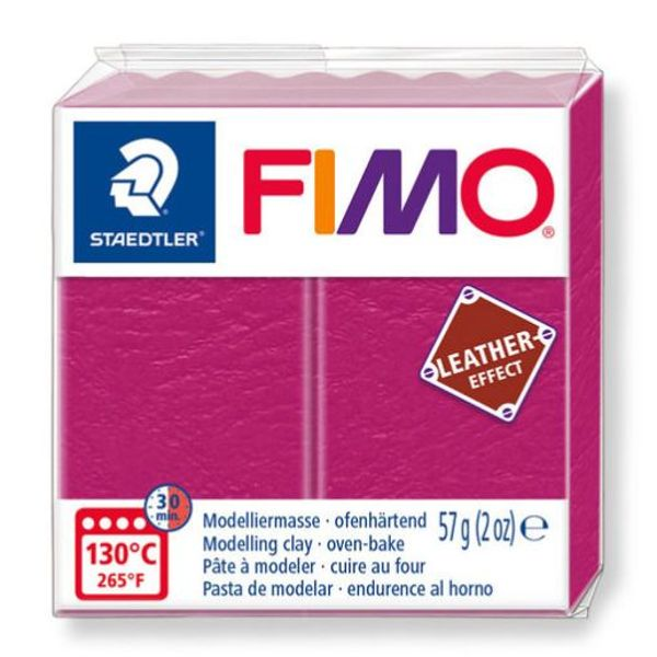 Fimo leather, Berry, 57 gr