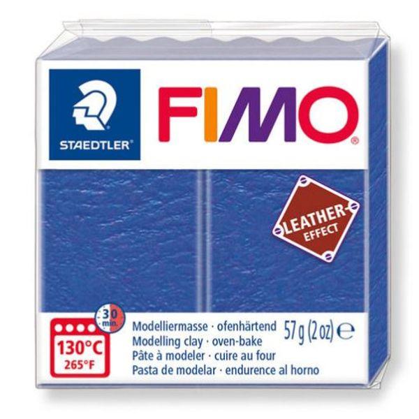 Fimo leather, Indigo, 57 gr