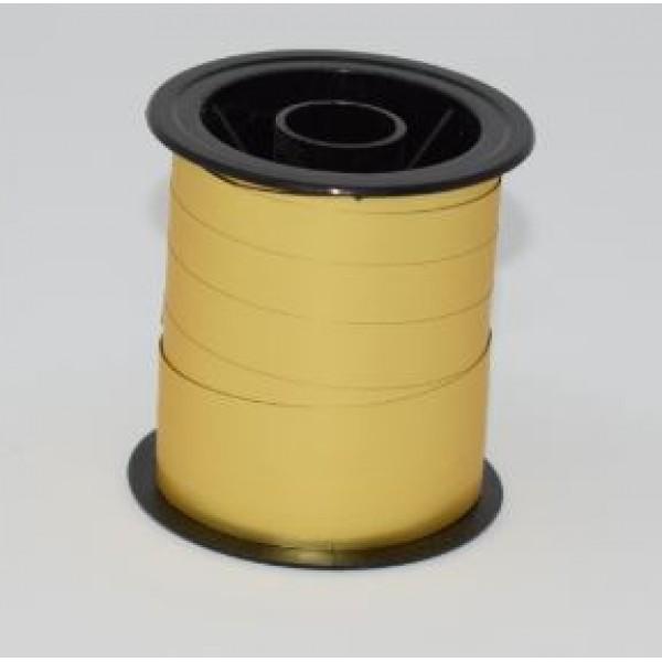 Pakkaband, 10mm x 10 metrar, gyllt matt