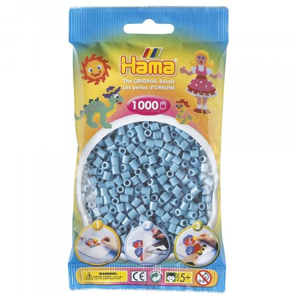 Hama plastperlur, blágrænar, 1000 stk