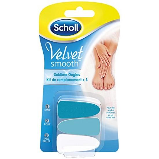 Velvet smooth aukapúðar í naglasnyrtitæki