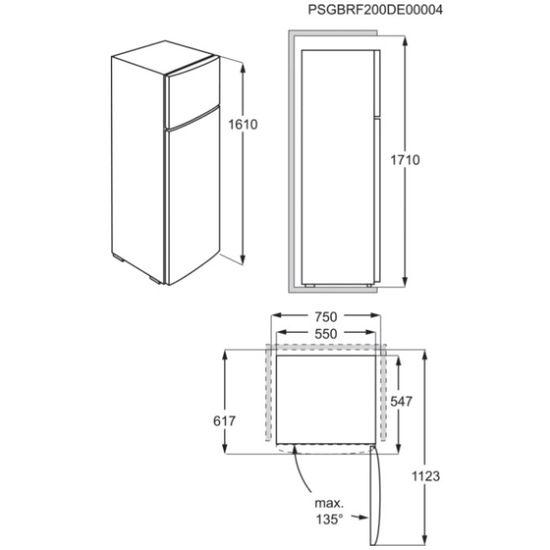 Electrolux LowFrost kæli- og frystiskápur