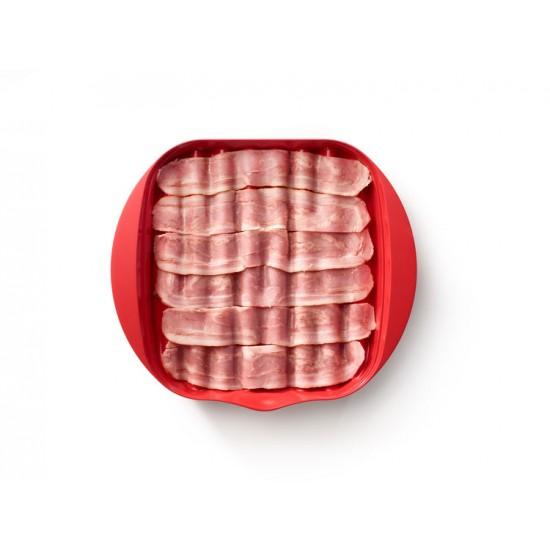 Lekue bacon bakki fyrir örbylgjuofn